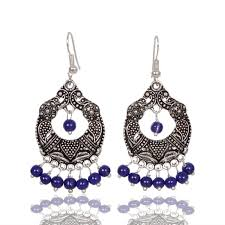 chandbali earrings earrings online sale traditional oxidized chandbali earrings at