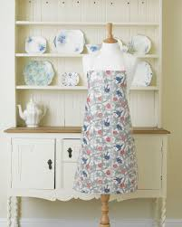 william morris trellis pvc oilcloth floral apron william morris