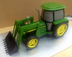 John Deere Home Decor by John Deere Cake John Deere 3050 Tractor With Digger Novelty