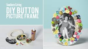 how to make a mother u0027s day diy button picture frame southern living