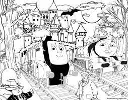Free Coloring Pages For Halloween To Print by Spencer And Gordon Halloween Thomas The Train S To Printd359