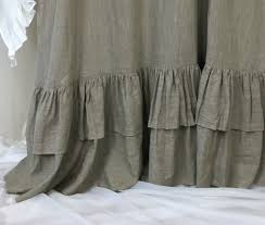 Custom Linen Curtains Country Curtains Cottage Style Linen Curtain Panels With Double