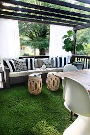 Outdoor Grass Rug The Artificial Grass Is Always Greener On A Deck