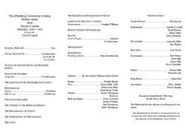 free wedding program templates free tri fold wedding program
