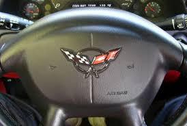 corvette steering wheel cover corvette c5 3d raised steering wheel emblems available