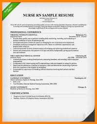 Sample Resume For Registered Nurse Position by Amazing Resume For Nursing Position Pictures Simple Resume