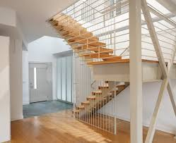 U Stairs Design Shared Guard Rail In The Middle Of A U Shaped Staircase U Shaped