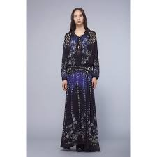 pretty thing dresses roberto cavalli pretty thing georgette dress midnight blue outlet