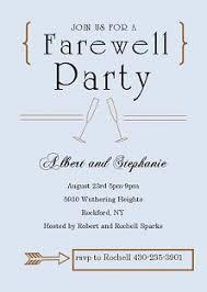 farewell card template word leaving drinks invite wording custom invitation template design