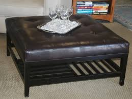 coffee table square coffee table ottoman black storage with trays