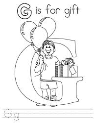 g is for gift coloring pages alphabet free alphabet coloring