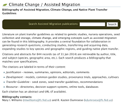 native plants of pakistan assisted migration assisted colonization managed relocation
