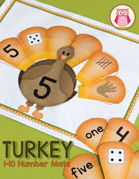 thanksgiving math activities turkey number and math activities