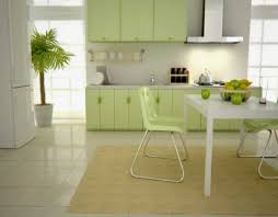 kitchen light green background white sponge texture wall paint