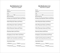 medication card template u2013 13 free printable sample example