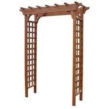 lowes wedding arches yardistry stained classic garden gated arbor with x panel at