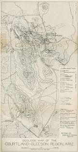 Bisbee Arizona Map by Geology And Ore Deposits Of The Courtland Gleeson Region Arizona