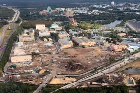 Disney Hollywood Studios Map Photos Video Aerial View Of Construction At Hollywood Studios