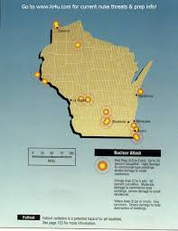 Map Of Southeastern Wisconsin by Nuclear War Fallout Shelter Survival Info For Wisconsin With Fema
