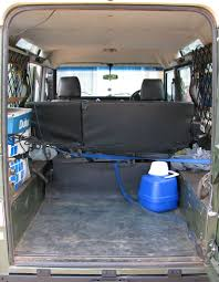 land rover defender interior back seat land rover defender expedition camper conversion part 1