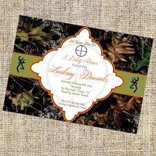 Camouflage Wedding Invitations Camo Baby Shower Invitations Template Best Template Collection