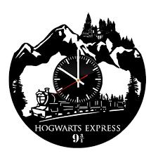 hogwarts express creative handmade vinyl record wall clock vinyl
