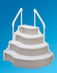 awesome above pool ladders deck mount with wedding cake pool steps