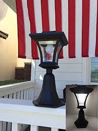 Solar Powered Gate Lights - amazon com outdoor led solar powered fence gate post mount light