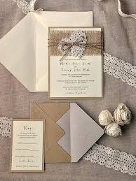 burlap and lace wedding invitations bridal shower invitations burlap and lace country rustic burlap