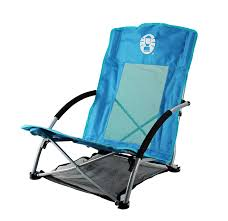 Folding Low Beach Chair Amazon Com 2 Coleman Low Sling Day Trip Beach Camping Chairs W