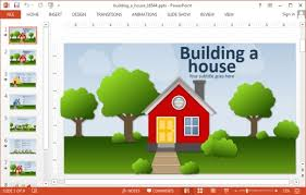 build a house free animated building a house powerpoint template