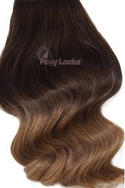 foxy locks hair extensions toffee ombre deluxe 20 clip in human hair extensions 165g