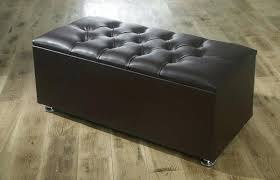 Leather Storage Ottoman With Tray Leather Storage Ottoman Bedroom Faux Uk Rothwell Bench