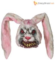 Ebay Halloween Props Zombie Rabbit Mask Evil Bunny Horror Halloween Fancy Dress
