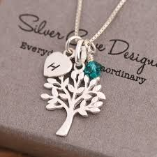 sted initial necklace silver initial necklace with birthstone best necklace 2018