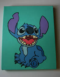 518 Best Painting Canvas Ideas by Disney U0027s Stitch Canvas Painting By Magicalcanvas On Etsy Want