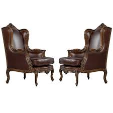Antique Leather Armchairs For Sale Furniture Chic Wingback Chairs To Complete Your Comfortable