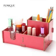 rangement stylo bureau funique en bois cosmétiques boîte de rangement boîte de finition
