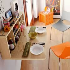 Chair  Furniture For Small Spaces Folding Dining Tables Chairs - Wall mounted dining table designs
