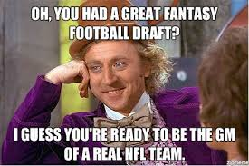 Draft Day Meme - 25 fantasy football memes