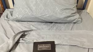 ardour rural king bed sheet set review youtube