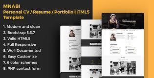 resume portfolio template mnabi personal cv resume portfolio html5 template by webcode4u