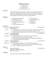 Pictures Of Sample Resumes by Unforgettable Payroll Specialist Resume Examples To Stand Out