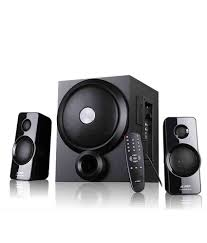 home theater speakers india buy f u0026d a350u 2 1 multimedia speakers black online at best price