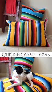quick floor pillows tutorial dream a little bigger