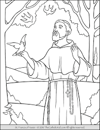 saint francis coloring page the catholic kid catholic coloring