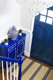 Blue Entryway Table by Entryway Makeover