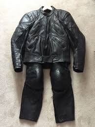 good motorcycle jacket richa leather motorcycle jacket and trousers good condition no
