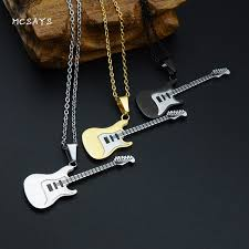 stainless steel guitar necklace images Mcsays hip hop stainless steel jewelry electric guitar pendant jpg