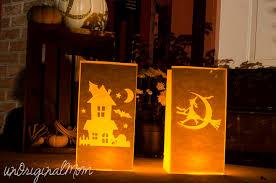 halloween paper bag luminaries unoriginal mom